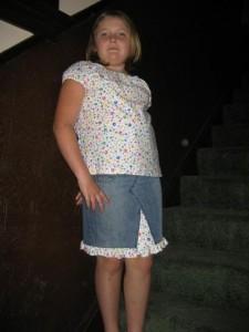 Granddaughter in Skirt